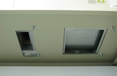 Roof Mounted Air Conditioner - Cutouts inside Enclosure