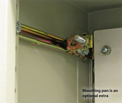 Mounting pan is an optional extra
